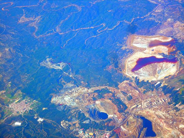 vistas aereas minas riotinto
