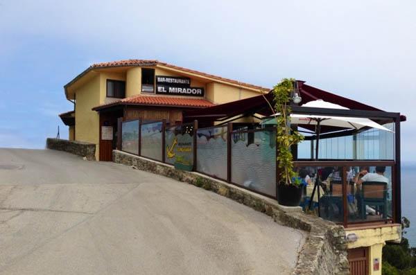 Restaurante El Mirador de Lastres, en Asturias