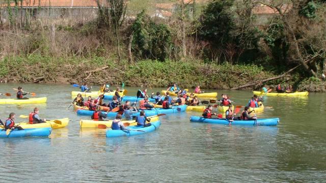 canoa raft rio deva