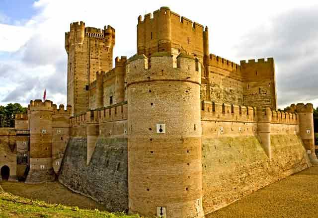 CAstillo de la Mota, en Median del Campo, Valladolid