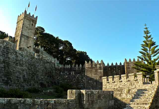 Castillo de Monterreal, en Baiona, Pontevedra