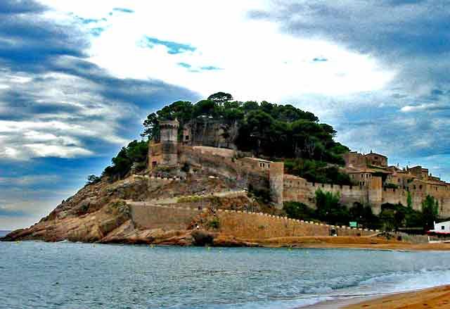 Castillo de Tossa de Mar, en Girona