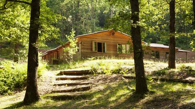 cabaña bosque
