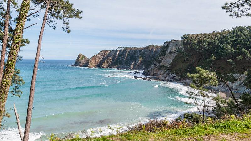 playa oleiros asturias