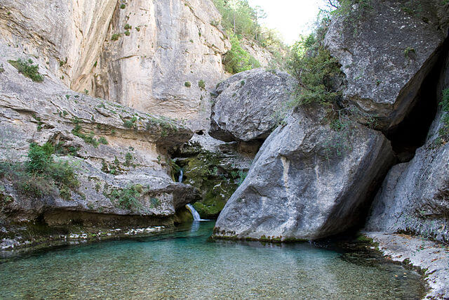 ruta senderismo teruel nacimiento rio pitarque